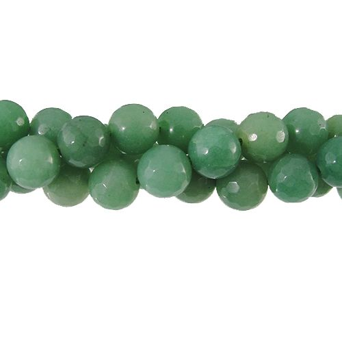 8mm Faceted Jade Gemstone Bead Strand, Pacific Opal | Auntie's Beads