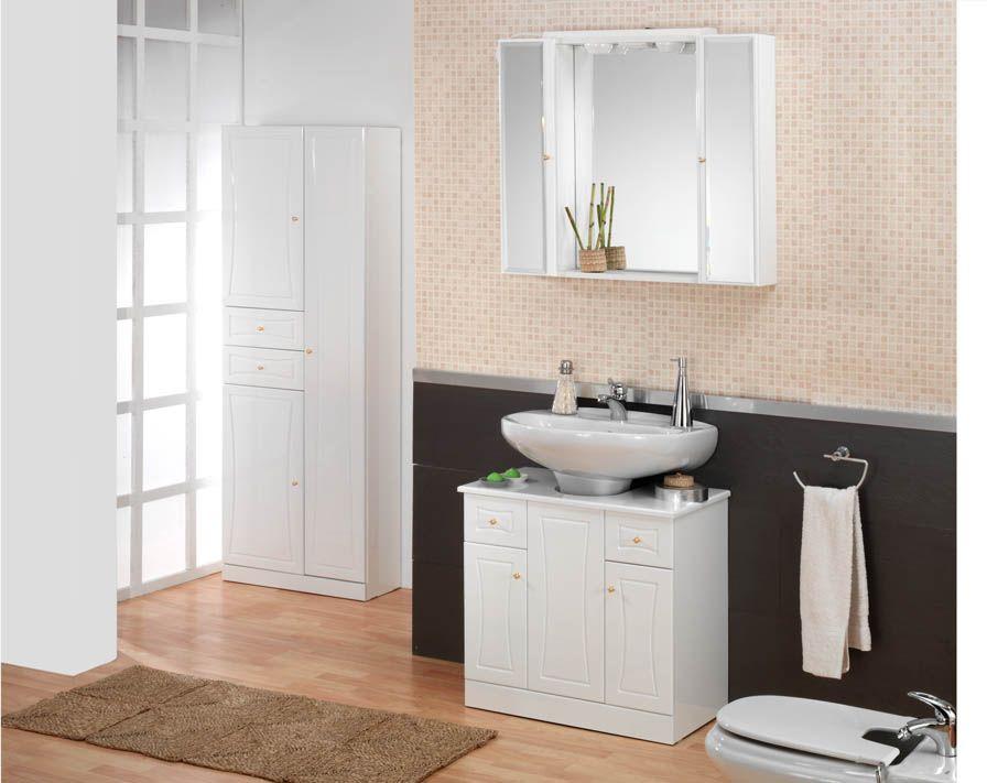 Ba o con lavabo de pedestal buscar con google lavabo - Muebles de bano adaptables a lavabo con pie ...