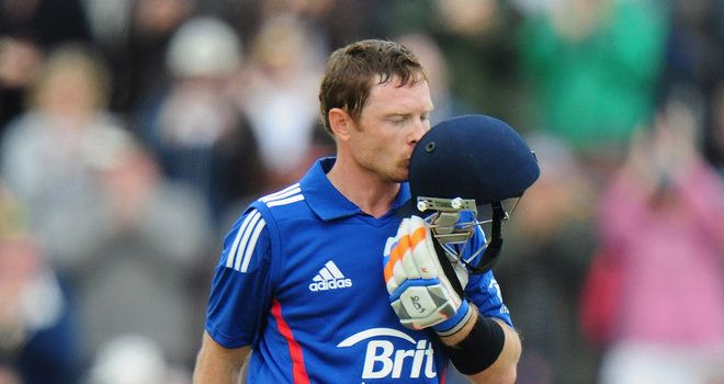 England men made a comprehensive win against west Indies in the 1st ODI by 114 runs (D/L method) at Southampton on Saturday.Ian Bell the star of the game completed his second one day hundred, same score as he scored 126 unbeaten  in his 1st ODI hundred.