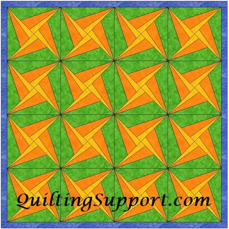free throwing star 6 inch block template craftsy quilts