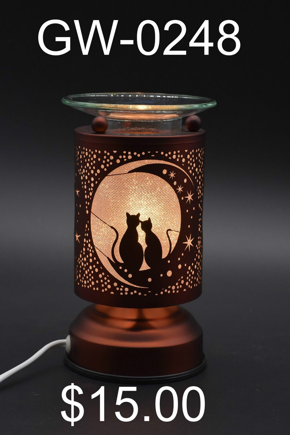 Moonlit Cats Oil Warmer Electric Oil Warmers Oil Warmers Oil Warmer Lamp Touch Lamp