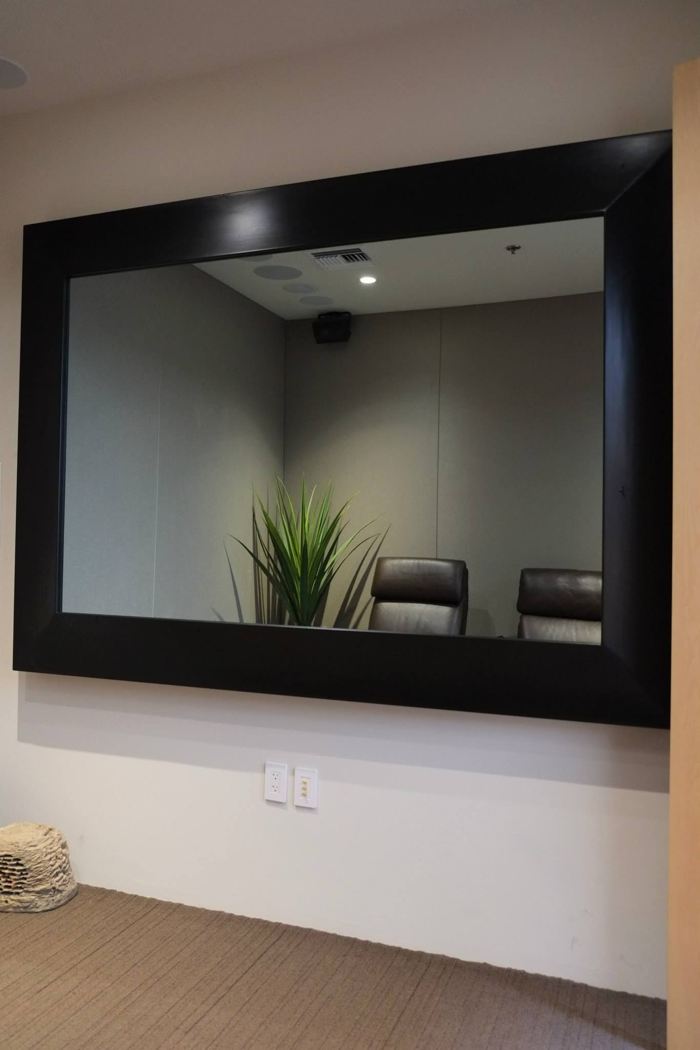 Bathroom Mirrors With Tv Built In Custom Built Two Way Mirror With 75 Quot Samsung Tv And Hidden