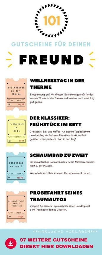 101 Gutscheine Fur Den Freund Ideen Und Vorlagen Zum Download