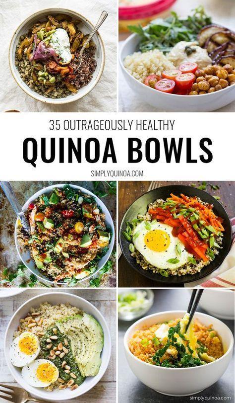 The 35 Best Quinoa Bowls F O O D Recetas Saludables Recetas