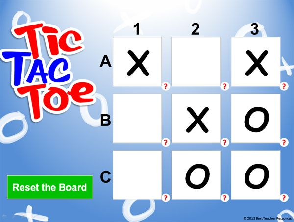 This Tic Tac Toe Powerpoint Template Can Be Used To Review With