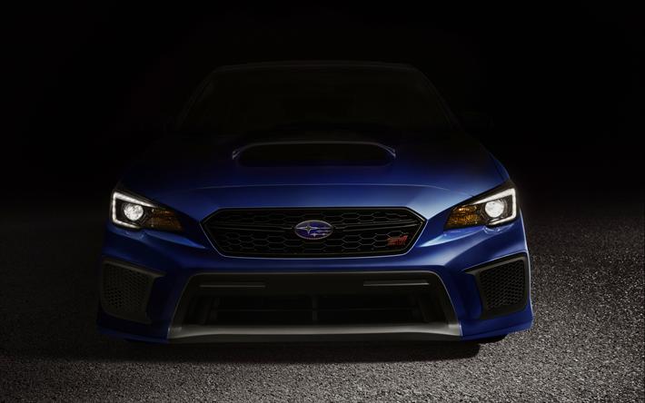 Download Wallpapers Subaru Wrx Sti 4k 2018 Cars Darkness