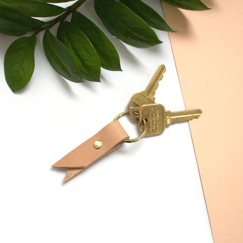 Veg Tanned Fold-over Key Ring