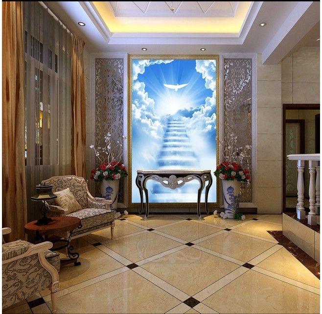 Best 3D Perspective Background Wallpaper Bedroom Hallway 400 x 300
