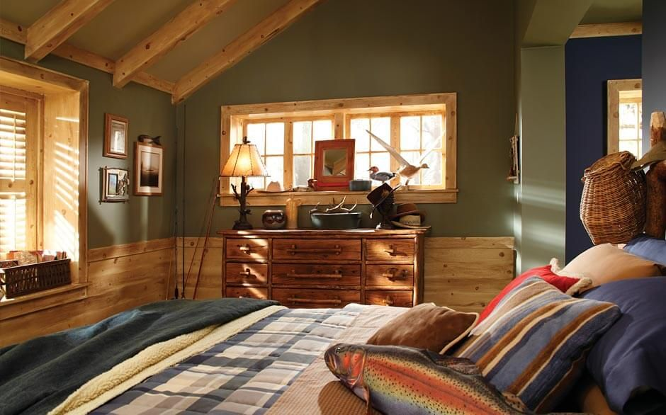 Bedroom Paint Color Selector The Home Depot Rustic Farmhouse Living Room Bedroom Paint Colors Cabin Color Scheme