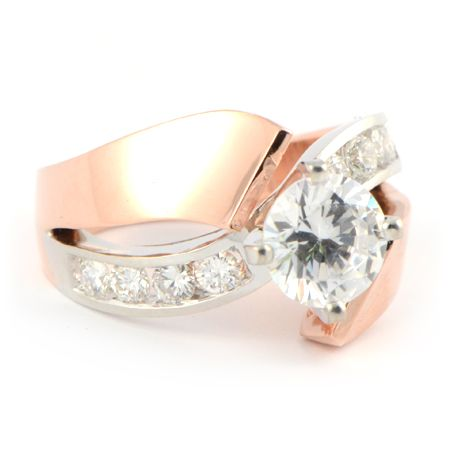 modern Gold Engagement Rings | Modern Rose Gold Engagement Ring