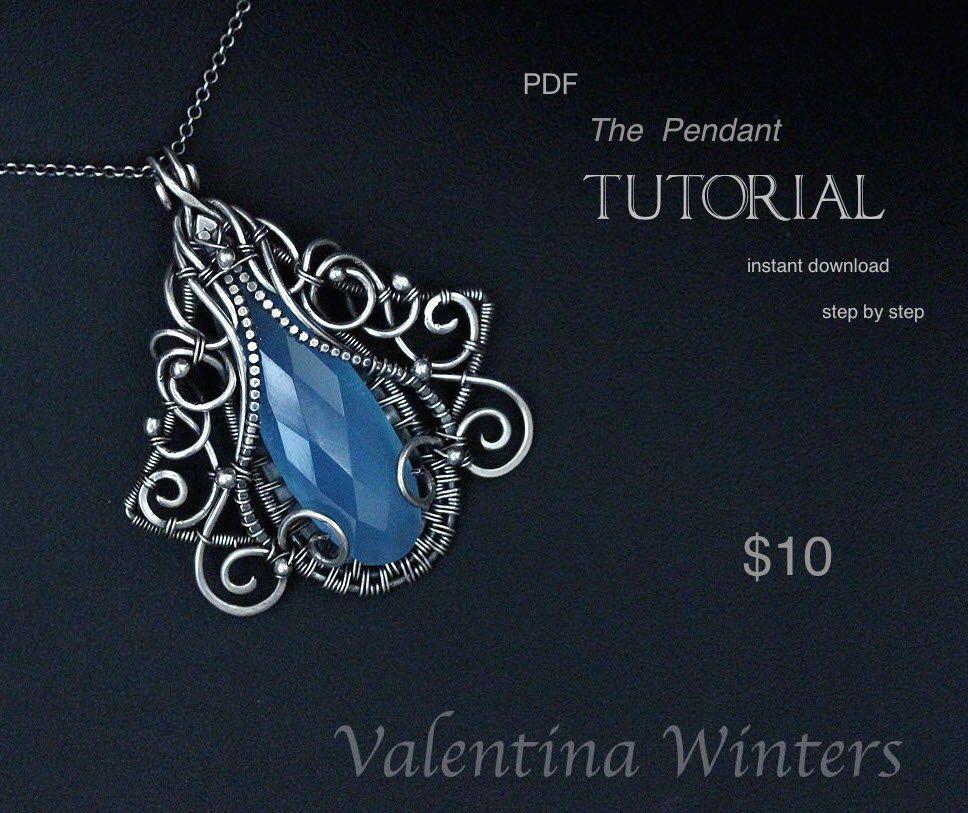 TUTORIAL - Pendant tutorial - Jewelry Tutorial - Wire Jewelry ...