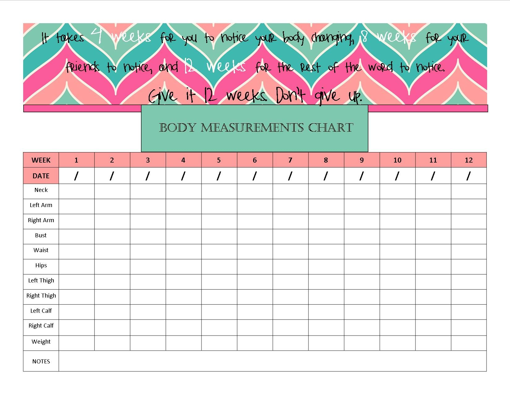 Body Measurement Chart Wasn T Liking What I Found So I
