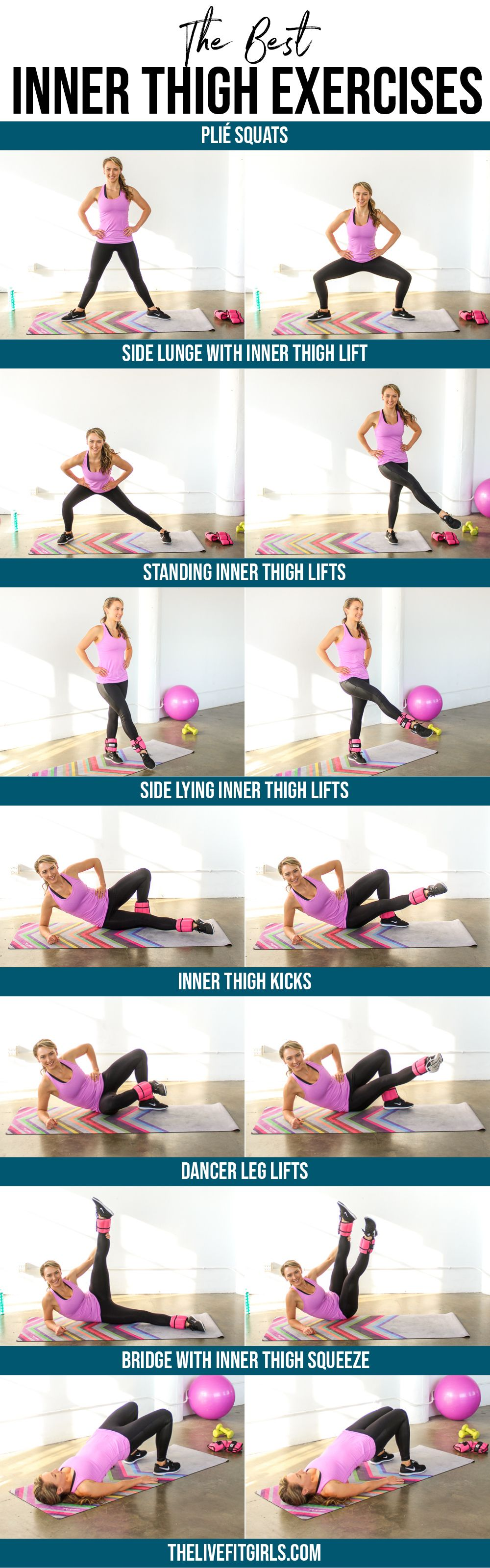 Inner Thigh Exercises • The BEST Inner Thigh Workout