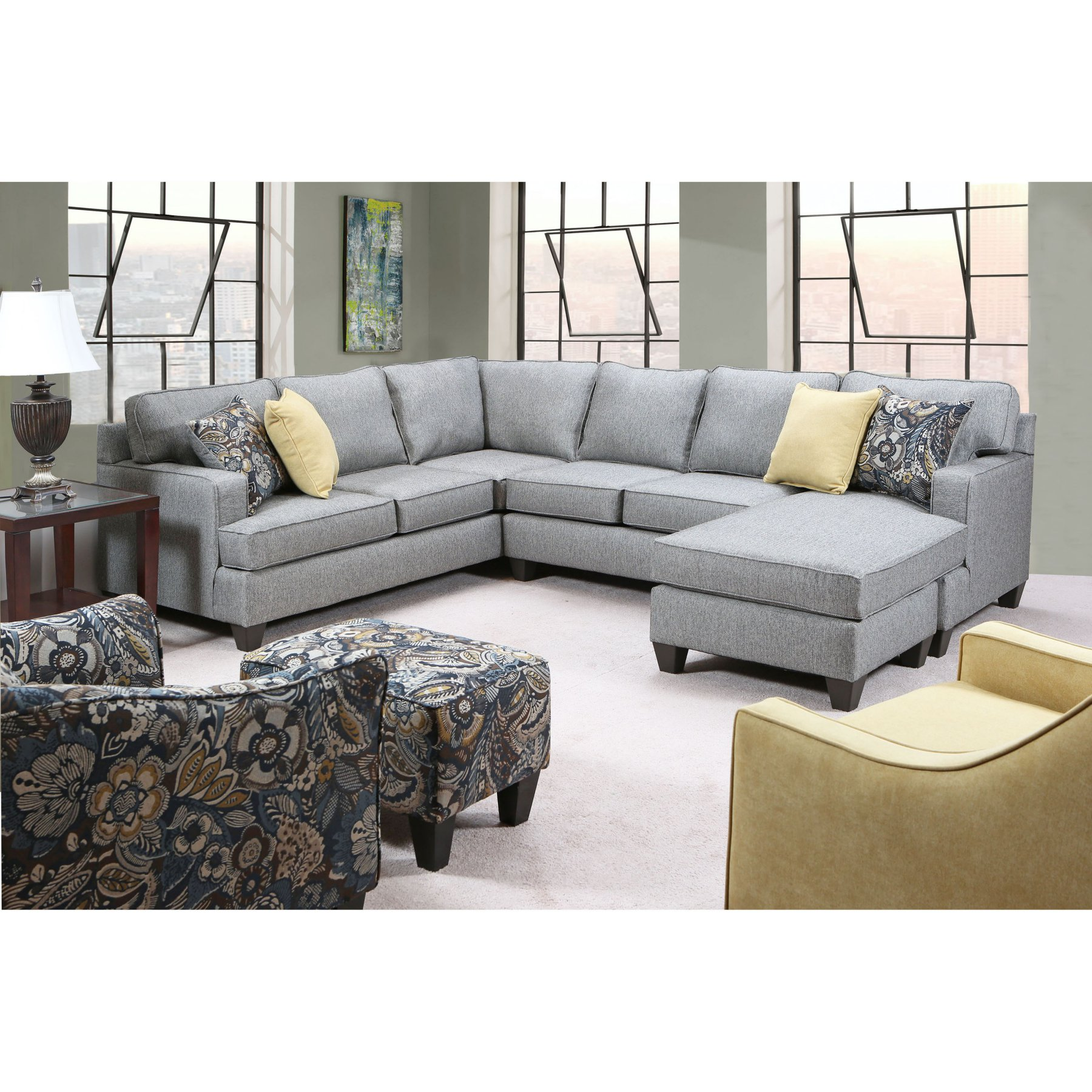 Chelsea Home Furniture Damari 3 Piece Sectional Sofa 781695 L32