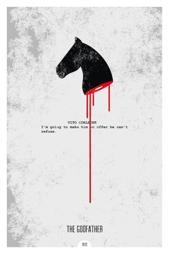 New minimalist movie posters with iconic quotes for Minimal art book