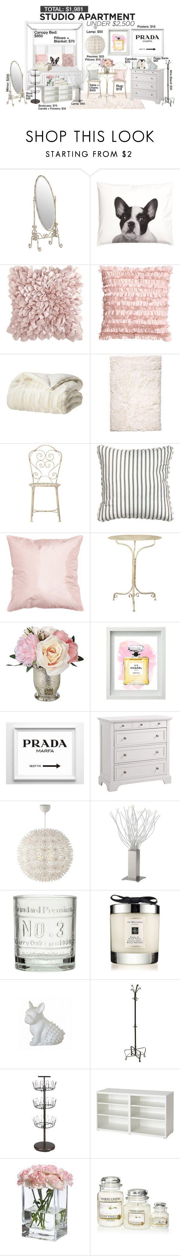"""Studio Apartment Under $2,500 - #4"" by theleatherlook ❤ liked on Polyvore featuring interior, interiors, interior design, home, home decor, interior decorating, H&M, Pier 1 Imports, Home Decorators Collection and Chanel"
