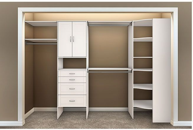 Closet Shelving Unit With Corner Shelves