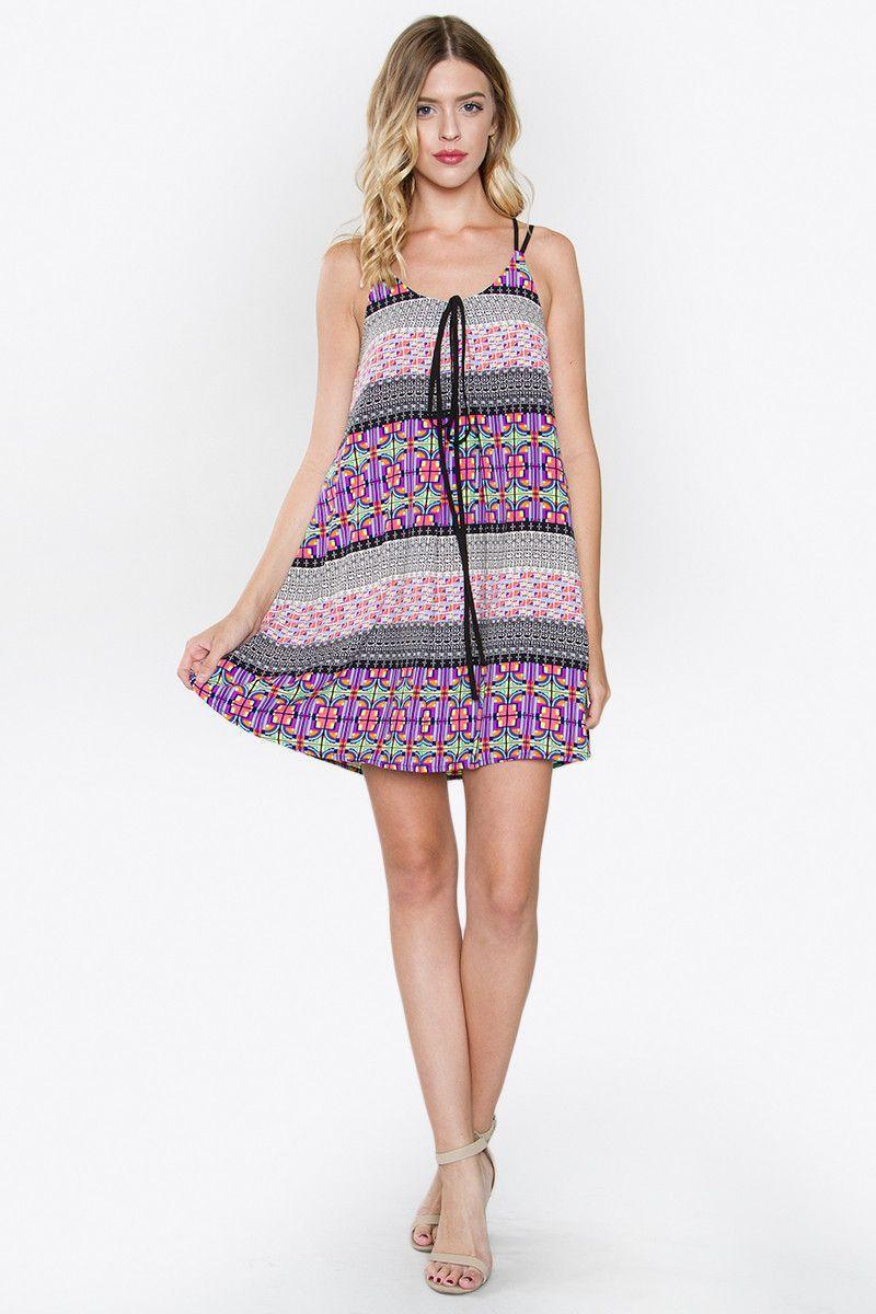 SugarLips Shelby Printed Dress