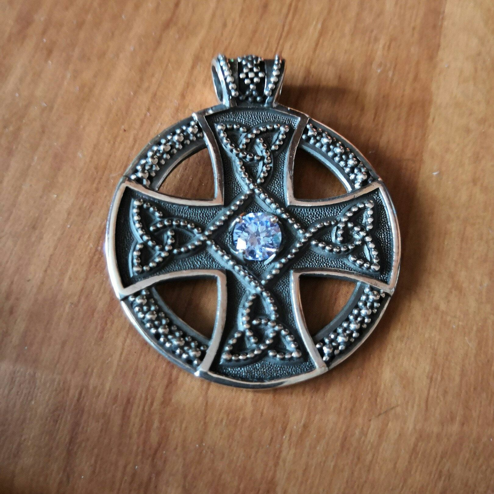 Sun cross pendant celtic cross pendant viking jewelry pendant sun cross sonne kreuz viking handgefertigt handmade aloadofball Choice Image