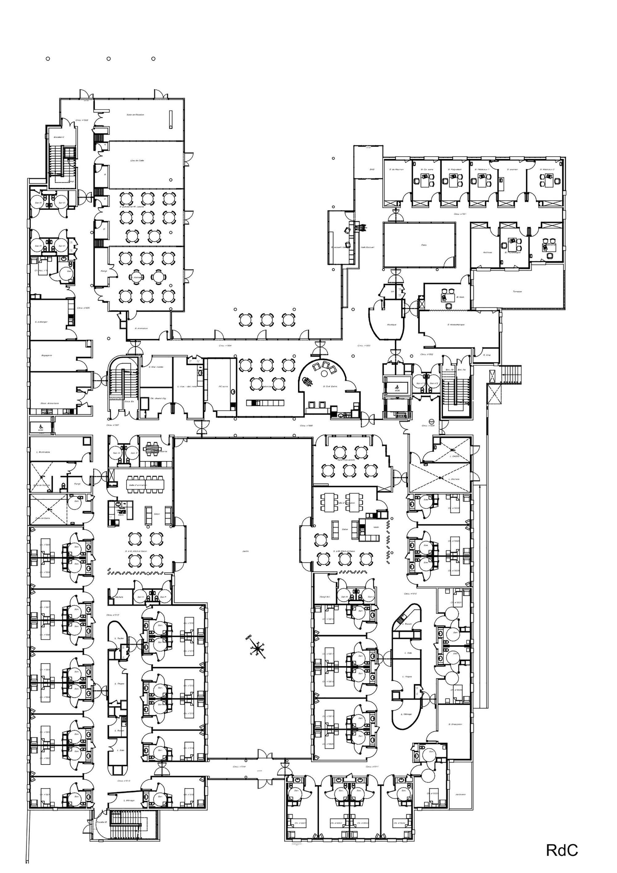 Gallery Of Establishment For Dependent Elderly Parallele 16 Home Design Floor Plans Floor Plan Design Hospital Floor Plan