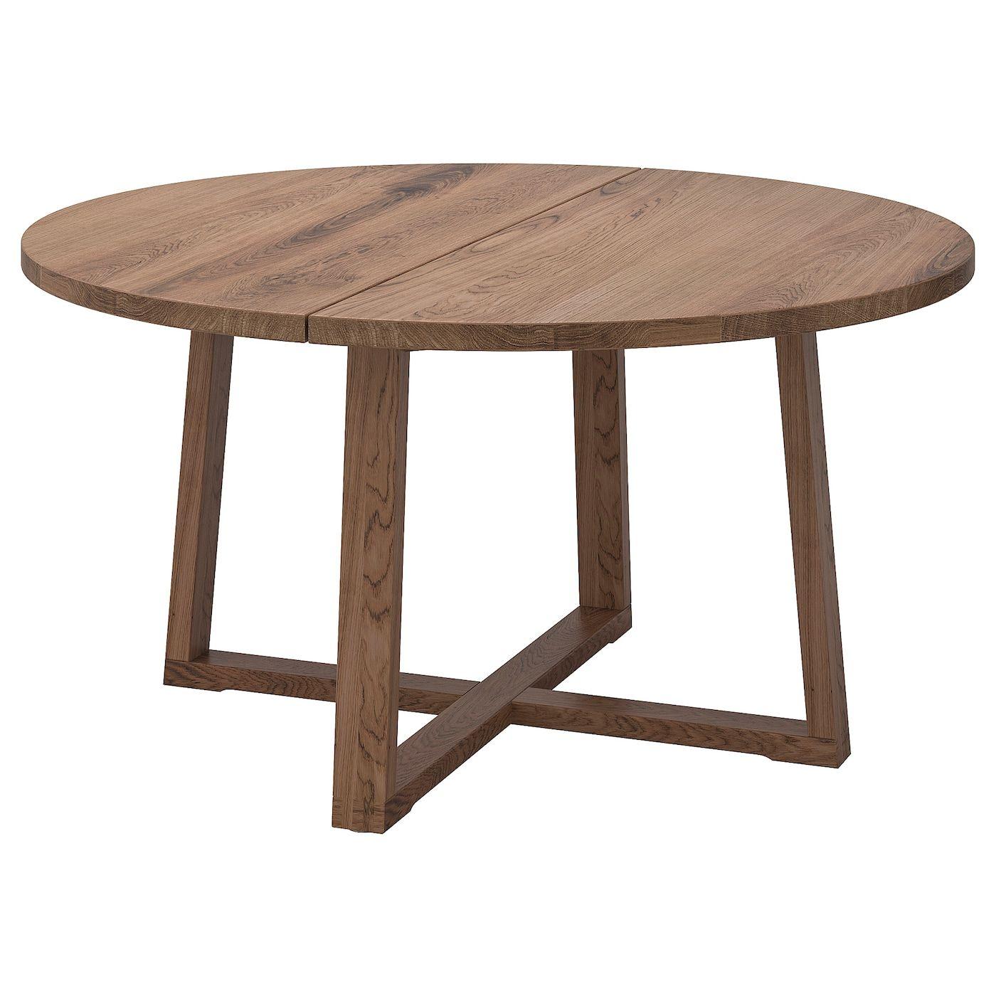 Morbylanga Table Oak Veneer Brown Stained Length 57 1 8 Ikea Ikea Coffee Table Dining Table Coffee Table Wood [ 1400 x 1400 Pixel ]