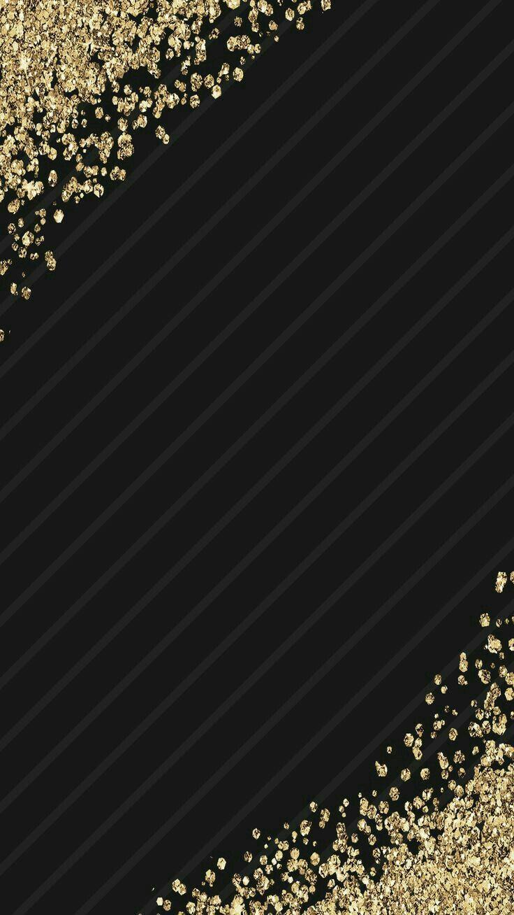 Black Gold Flecks Elegant Phone Wallpaper For Android Iphone