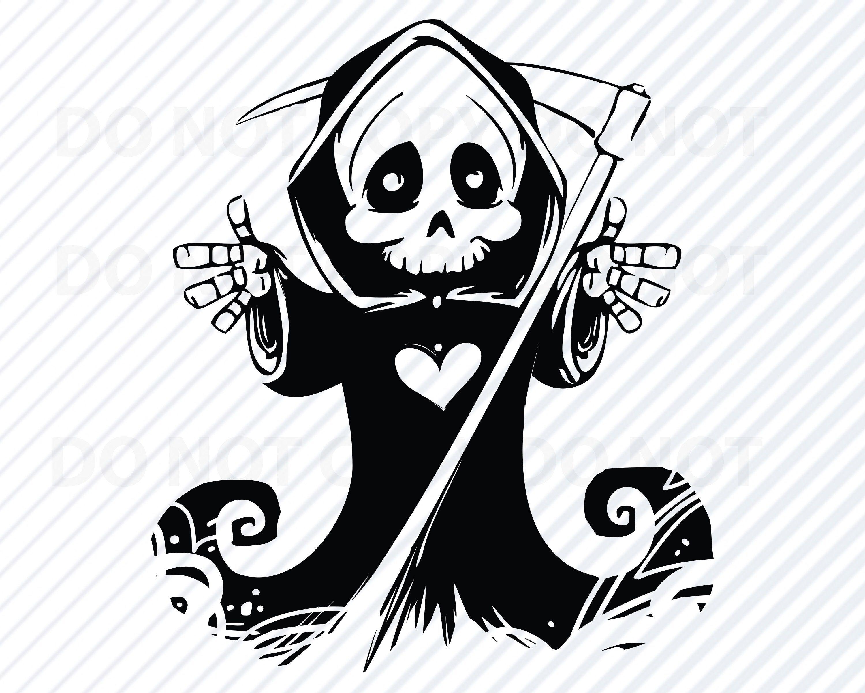 Halloween Grim Reaper Svg Files For Cricut Silhouette Etsy Grim Reaper Halloween Clipart Silhouette Vector