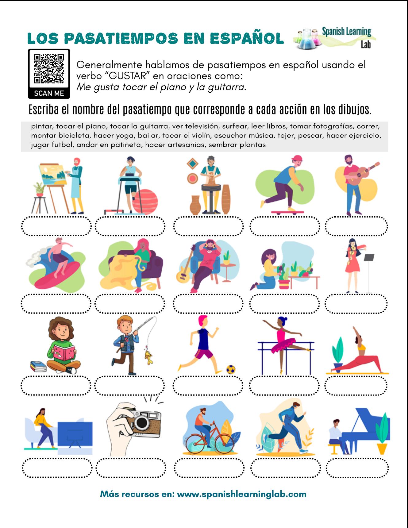Common Hobbies In Spanish
