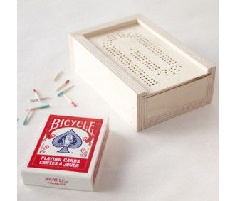 Compact Cribbage board card game