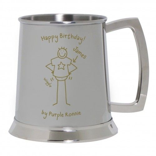 Personalised Purple Ronnie Stainless Steel Tankard  from Personalised Gifts Shop - ONLY £29.99