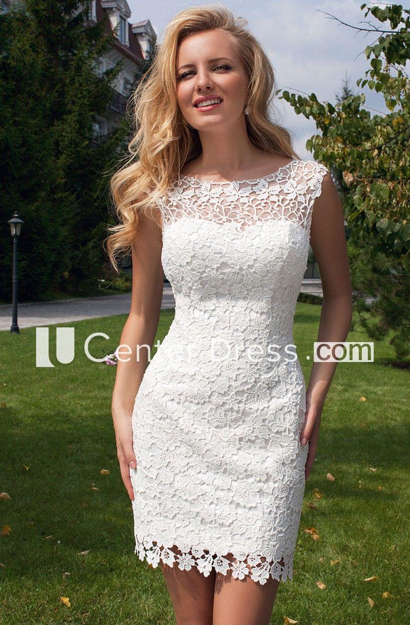Sleeveless Scoop Neck Maxi Tulle Lace Wedding Dress With Keyhole Ucenter Dress Short Wedding Dress Sheath Wedding Dress Lace Lace Beach Wedding Dress [ 1262 x 828 Pixel ]