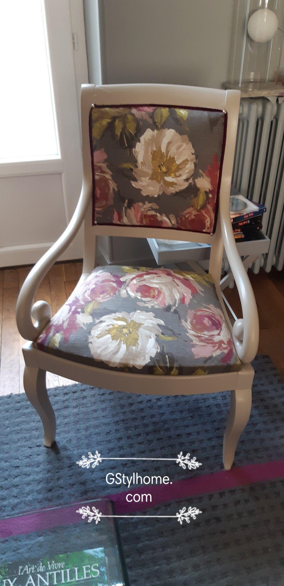 Fauteuil Relooke Couleur Poivre Relooking Meuble Mobilier De Salon Decoration Maison