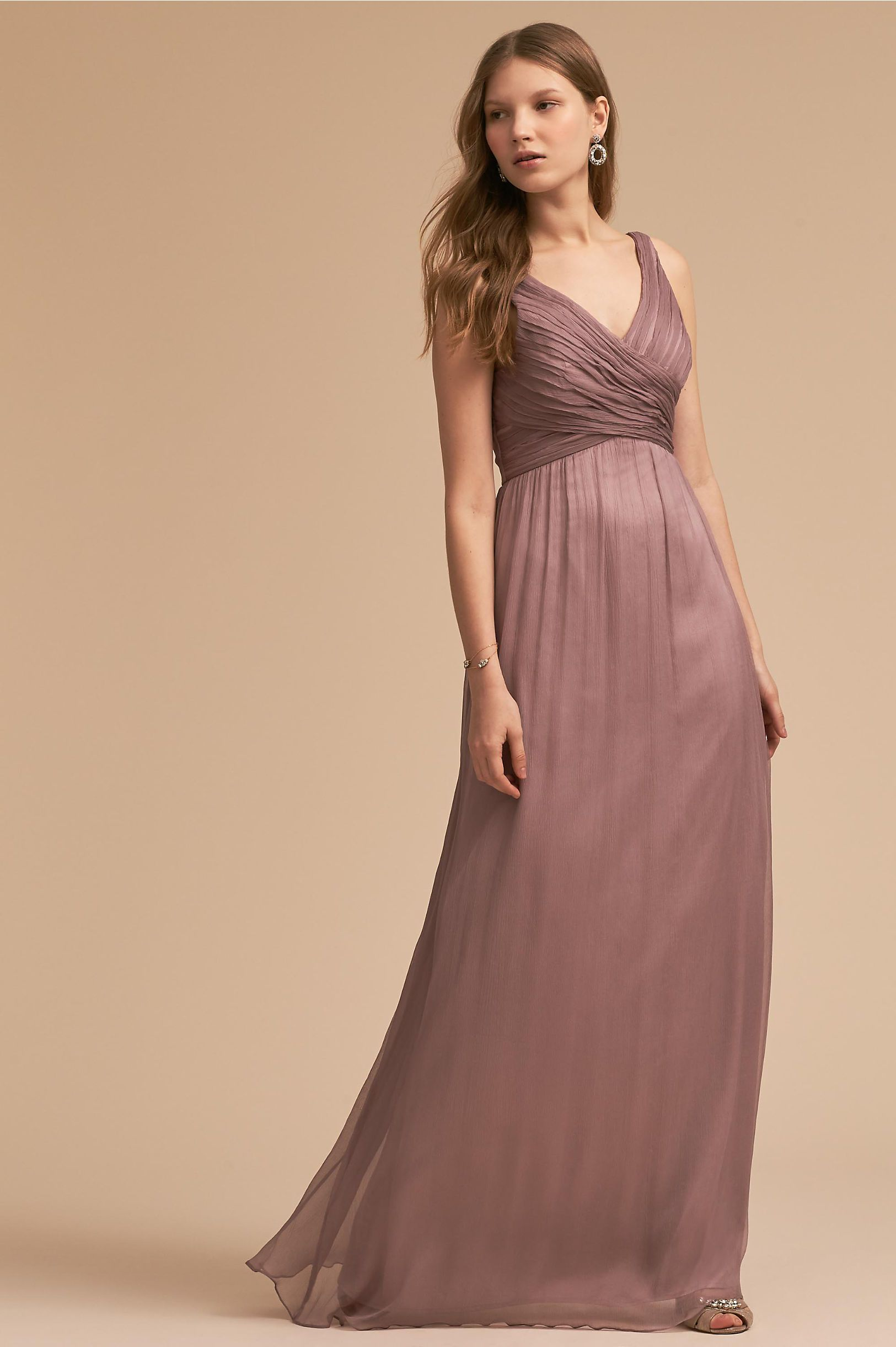BHLDN Angie Dress Violet Grey in Bridal Party | BHLDN | Bridesmaid ...