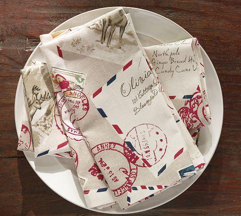Pottery Barn Letters To Santa Napkins Santa Letter