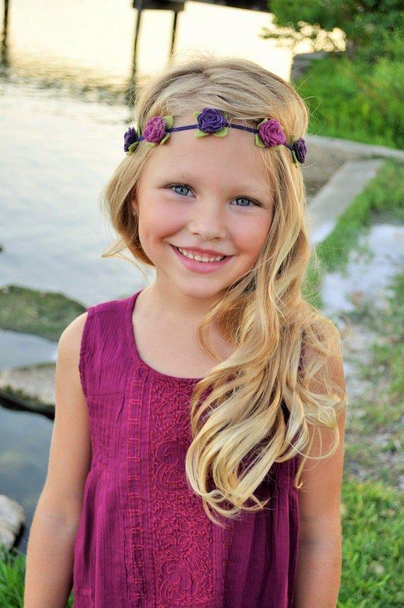 Felt flower headband, Your choice of colors, baby headband, flower girl crown #feltflowerheadbands