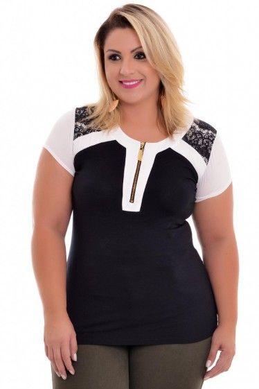 camisa feminina plus size