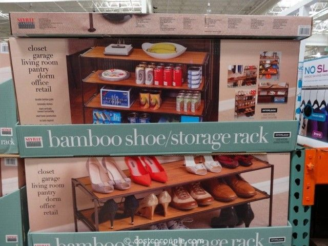 Genial Seville Classics Bamboo Shoe Storage Rack Costco