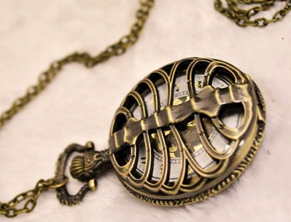 Steampunk Skeleton  Pocket Watch Pendant 264119 by peahenLee, $7.59