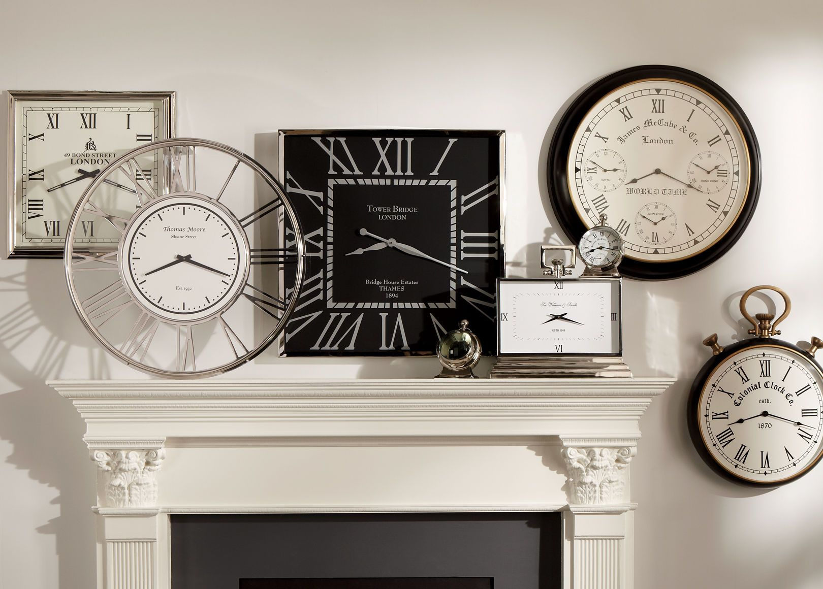 Nickel And Black Wall Clock Ethan Allen Living Room Pinterest