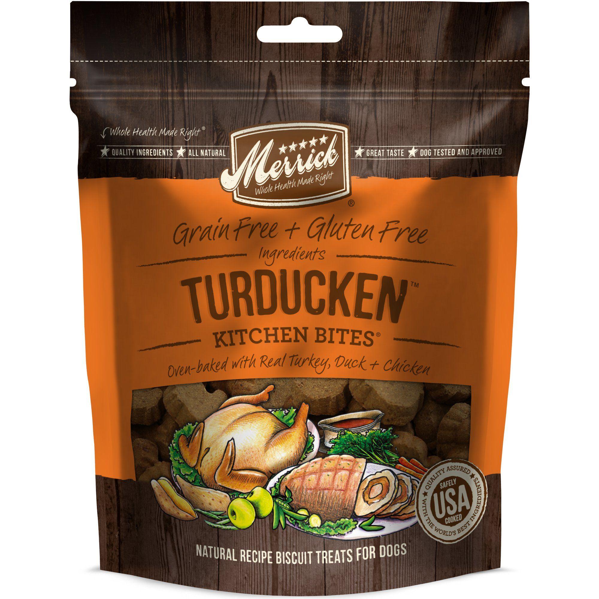 Merrick Grain Free Kitchen Bites Turducken Dog Treats 9 Oz Dog