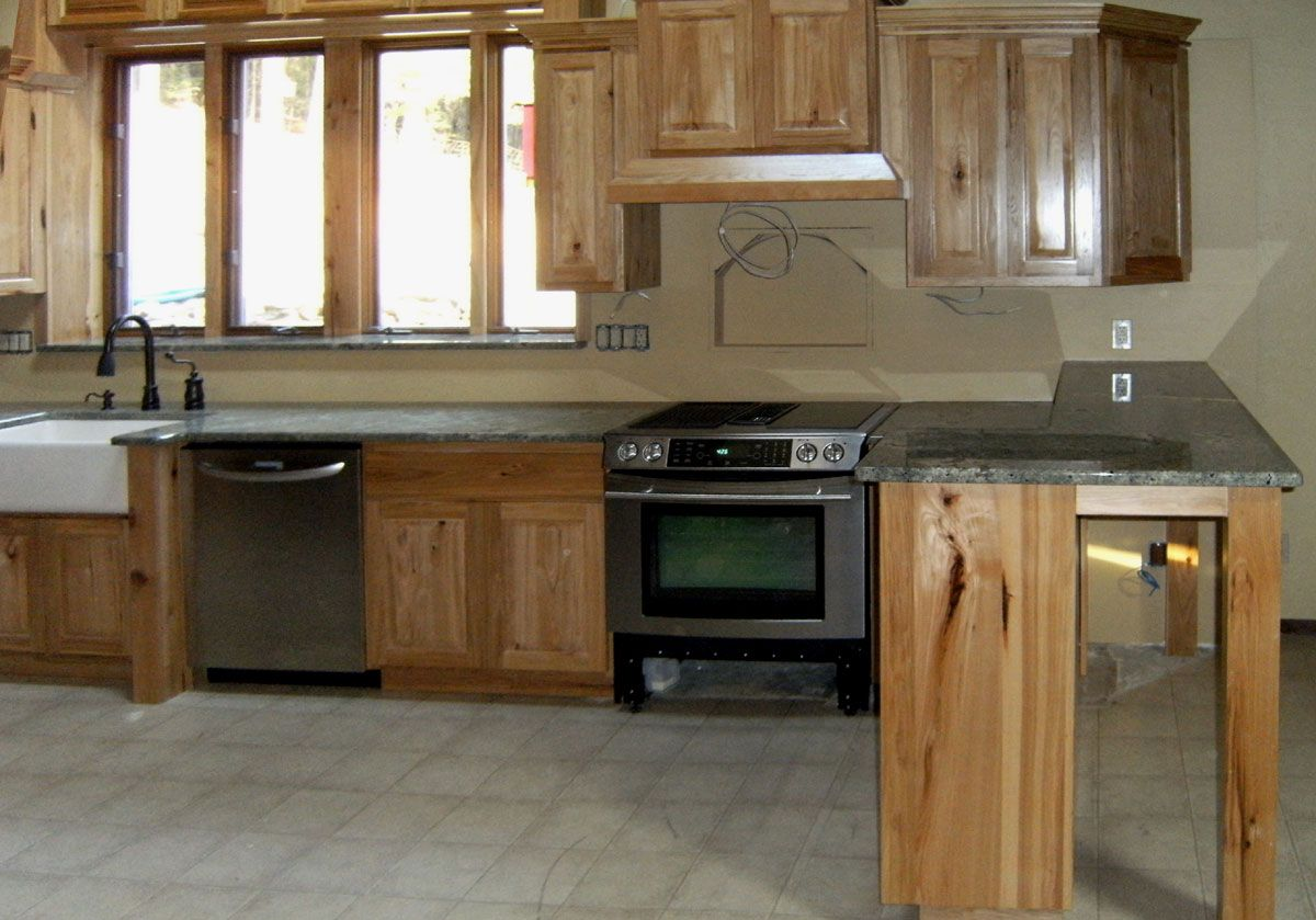 17 Best images about Hickory Cabinets on Pinterest | Drawer pulls, Hickory  cabinets and Kitchen photos