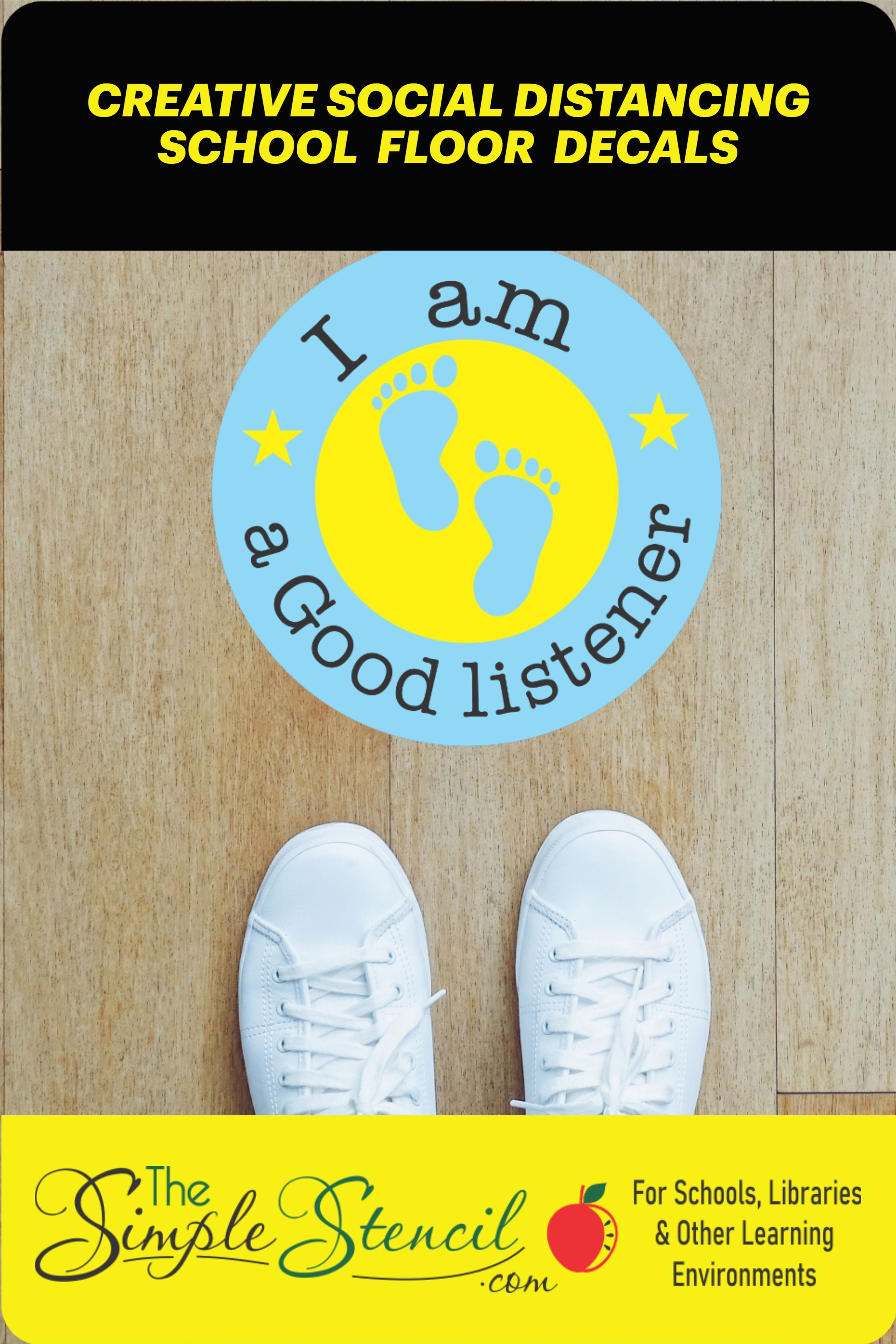 Help Students Stay Safe With Colorful Creative Social Distancing Floor Decals Pick Your Colors Floor Decal Educational Wall Decals Floor Graphics