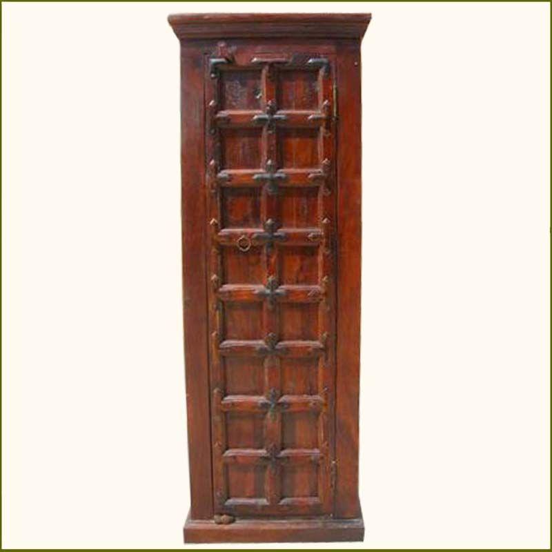 Narrow Wood #StorageCabinet Closet Bedroom #Furniture http ...