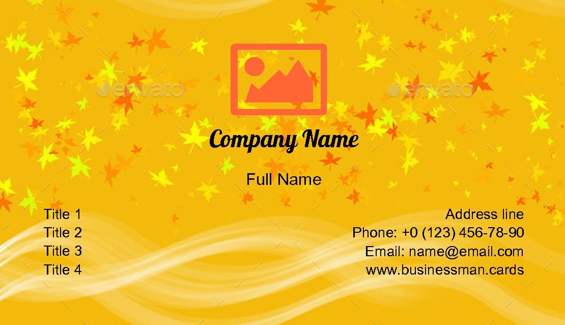 Create Online Orange Abstract Pattern Business Card Template