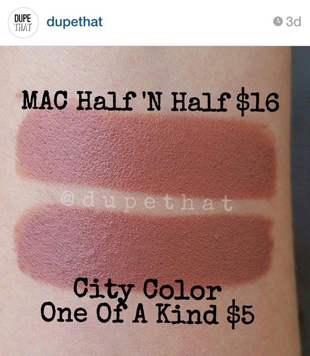 mac half and half lipstick dupe