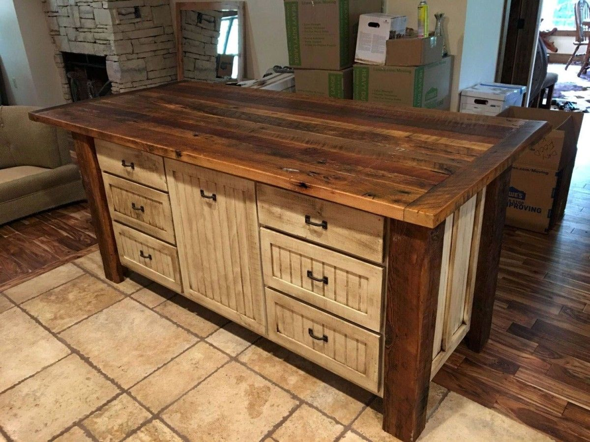 Kitchen Table With Storage Pros And Cons Kitchen Table With Storage In 2020 Rustic Kitchen Rustic Kitchen Island Rustic Kitchen Cabinets