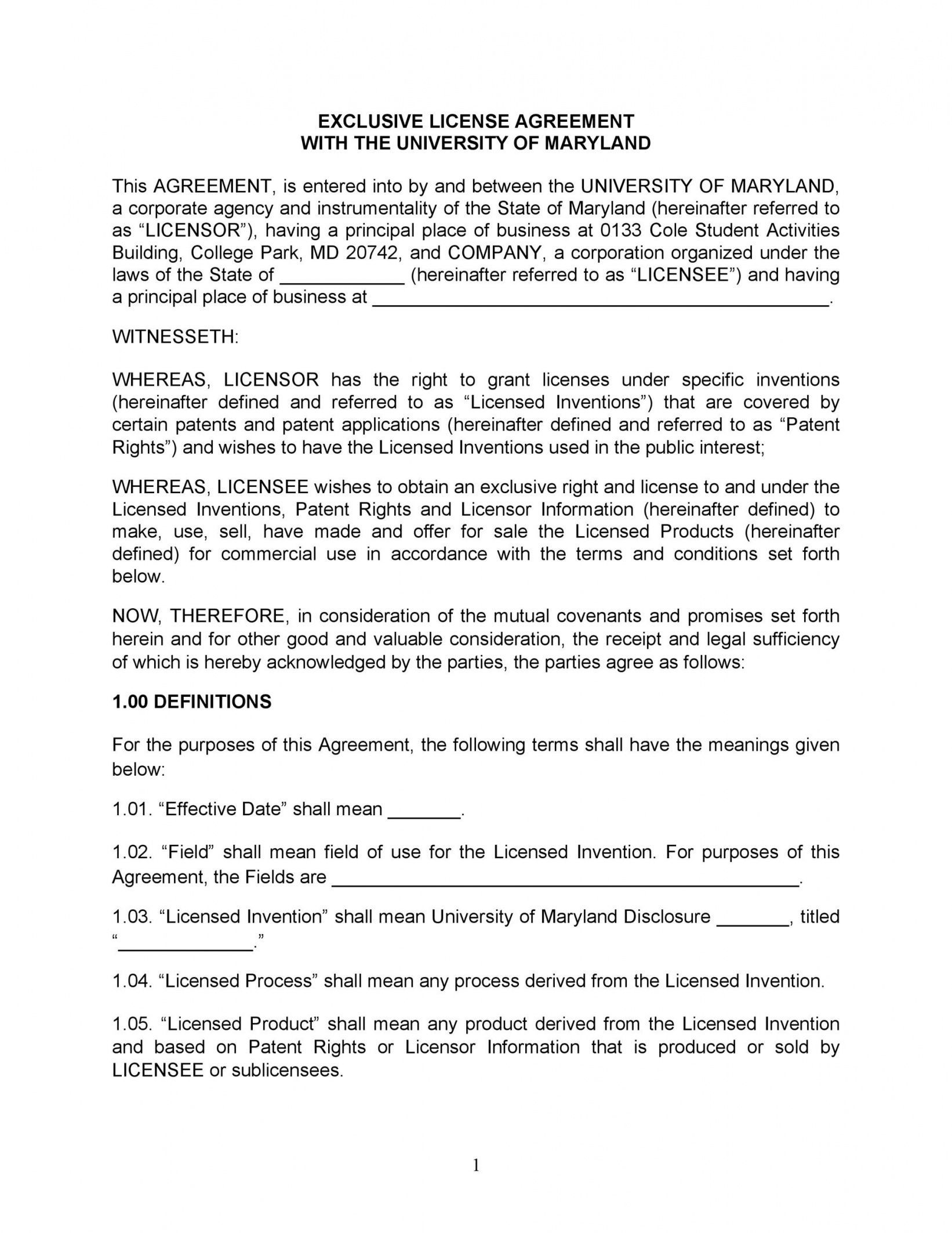 Browse Our Example Of Product License Agreement Template For Free Agreement Student Activities Professional License