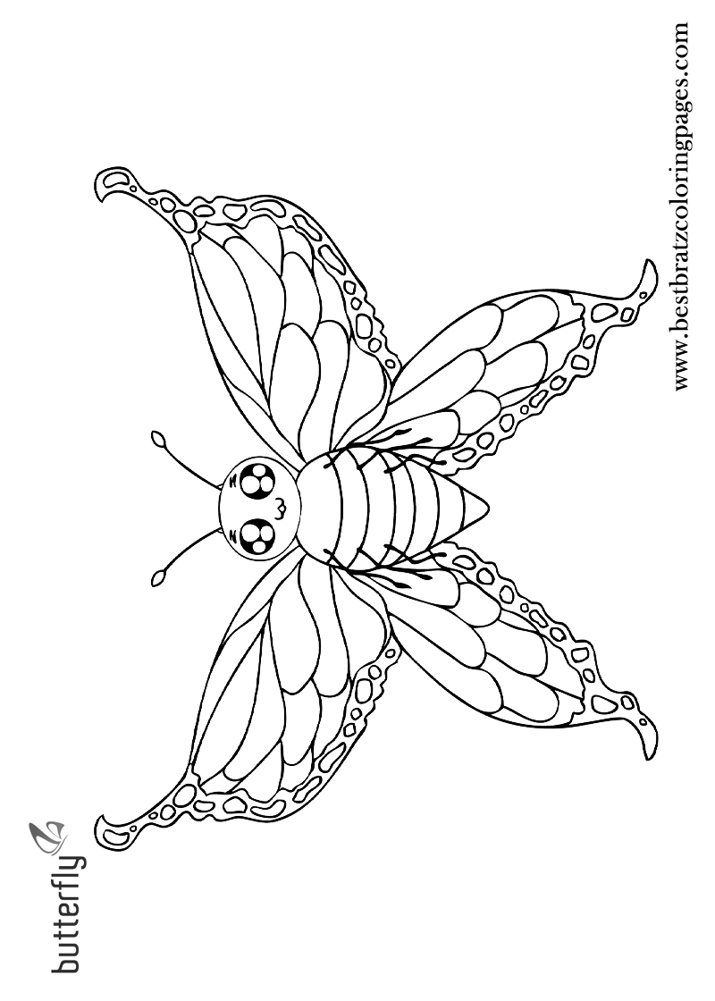 Printable Butterfly Coloring Pages For Kids | Bratz Coloring Pages ...