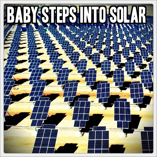 So you have been meaning to get started into alternative energy, but