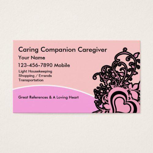 Senior Caregiver Business Cards Home Health Visit Carte